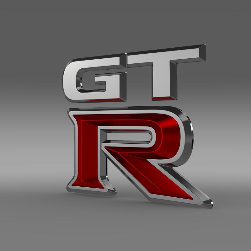 gtr logo 3d model 3ds max fbx c4d lwo ma mb hrc xsi obj 162835