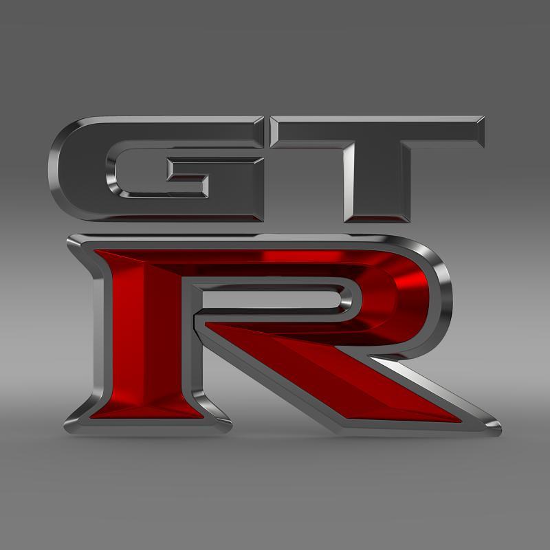 gtr logo 3d model 3ds max fbx c4d lwo ma mb hrc xsi obj 162836