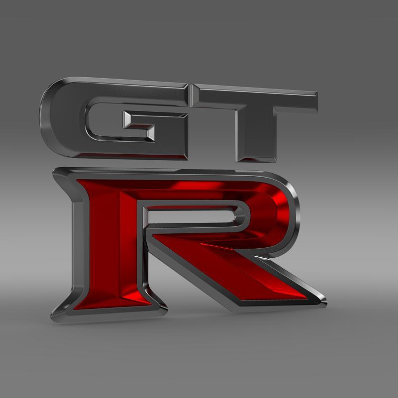 gtr logo 3d model 3ds max fbx c4d lwo ma mb hrc xsi obj 162837