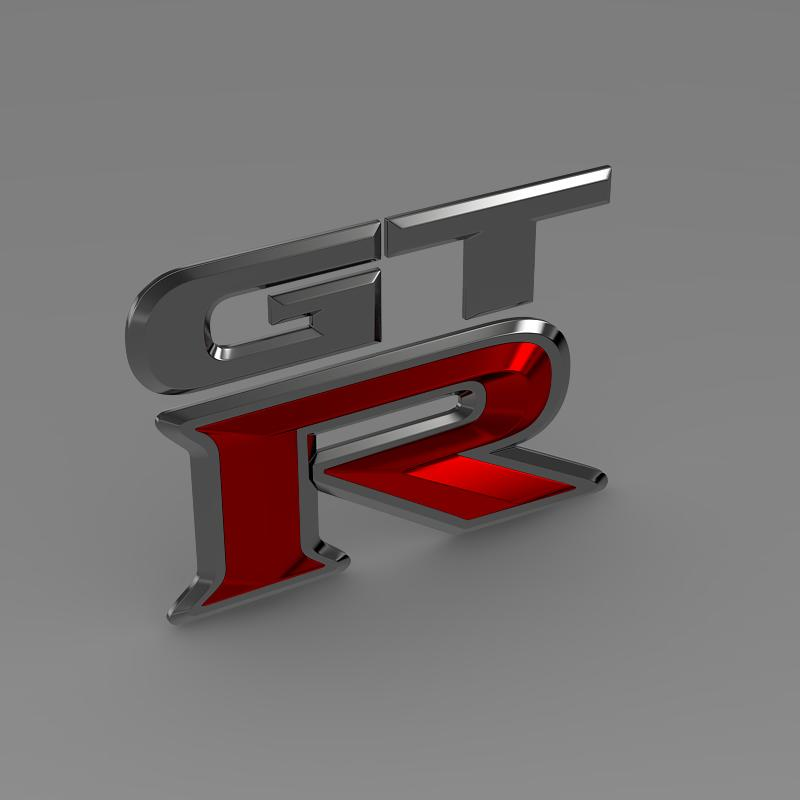 gtr logo 3d model 3ds max fbx c4d lwo ma mb hrc xsi obj 162840