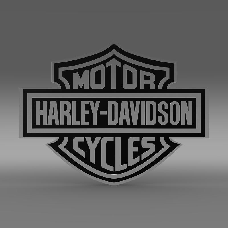 harley-davidson 3d loqosu 3d modeli 3ds max fbx c4d lwo ma mb hrc xsi obj 150266
