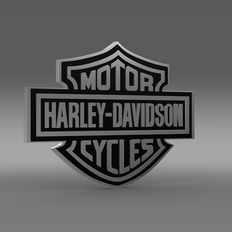 harley-davidson 3d loqosu 3d modeli 3ds max fbx c4d lwo ma mb hrc xsi obj 150267
