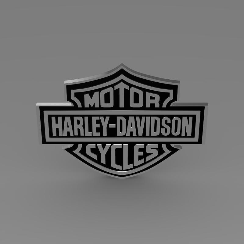 harley-davidson 3d loqosu 3d modeli 3ds max fbx c4d lwo ma mb hrc xsi obj 150269