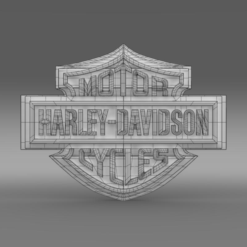 harley-davidson 3d loqosu 3d modeli 3ds max fbx c4d lwo ma mb hrc xsi obj 150271