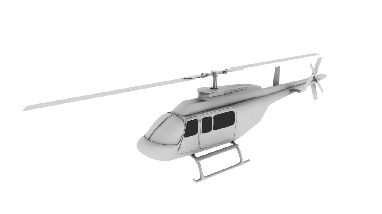 helicopter 3d model 129032