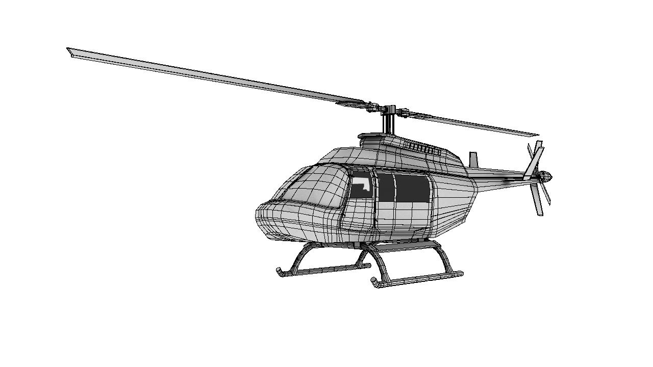 helicopter 3d model 129033
