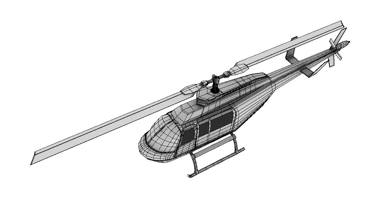 helicopter 3d model 129034