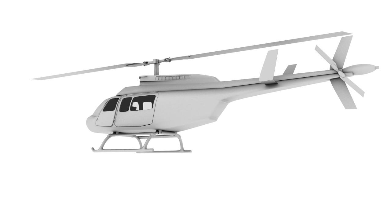 helicopter 3d model 129035