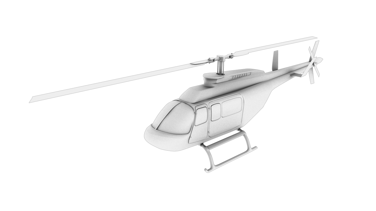 helicopter 3d model 129036