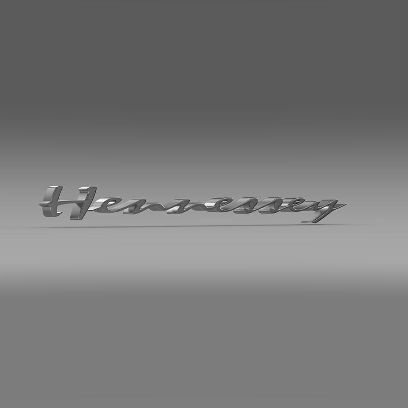 hennesey logo 3d model 3ds max fbx c4d lwo ma mb hrc xsi obj 155268