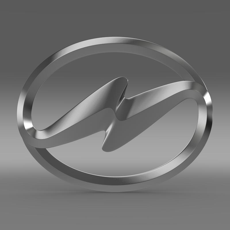 higer logo 3d model 3ds max fbx c4d lwo ma mb hrc xsi obj 162745