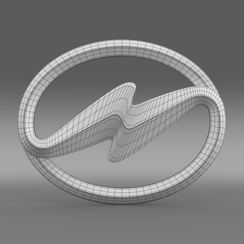 higer logo 3d model 3ds max fbx c4d lwo ma mb hrc xsi obj 162750