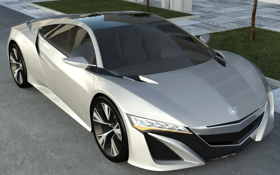 honda acura nsx 2012 3d model 3ds max 133377