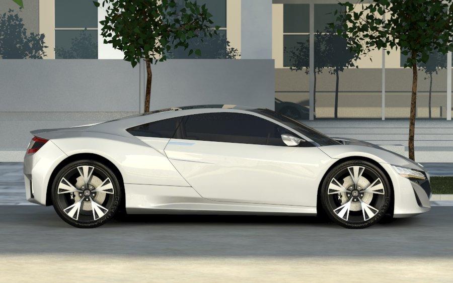 honda acura nsx 2012 3d model 3ds max 133385