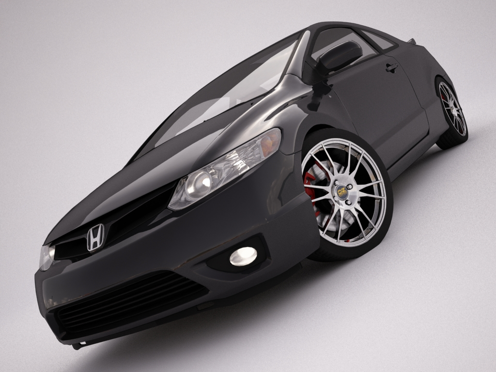 honda civic 3d model 3ds max dxf fbx jpeg jpg texture obj other 122007