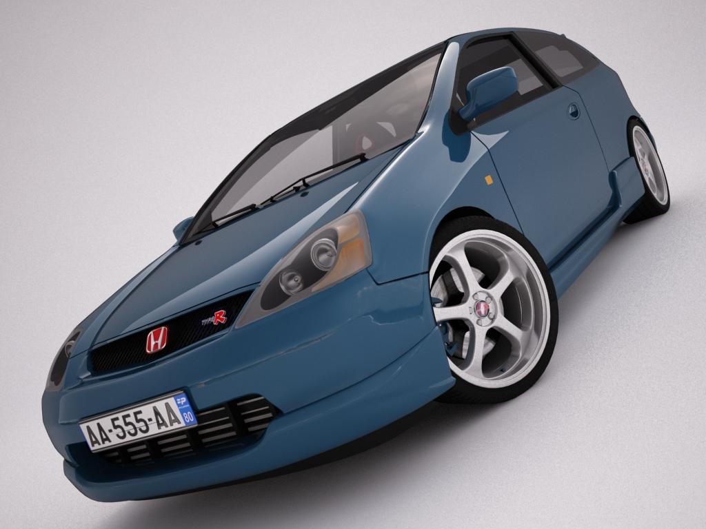 honda Civic type r 3d model 3ds max dxf fbx jpeg jpg gwead obj arall 122765