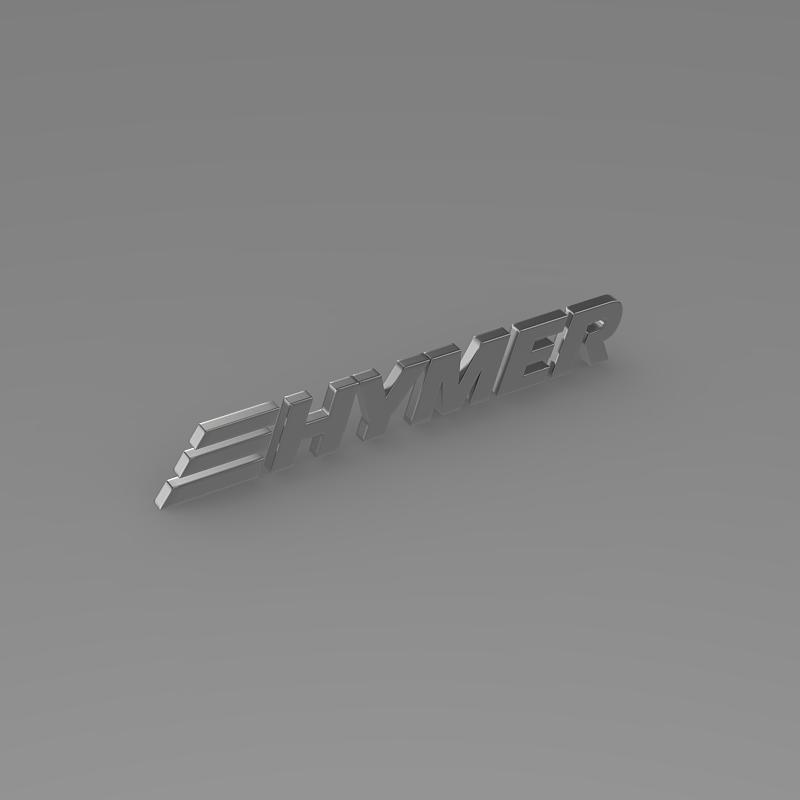 hymer logo 3d model 3ds max fbx c4d lwo ma mb hrc xsi obj 162753
