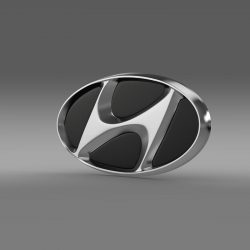 Hyundai company logo 3d model augmented reality high poly 3ds max fbx c4d lwo lws lw ma mb  obj