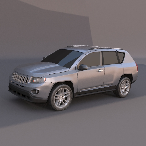jeep compass 2011 3d model 3ds fbx blend lwo obj 119467
