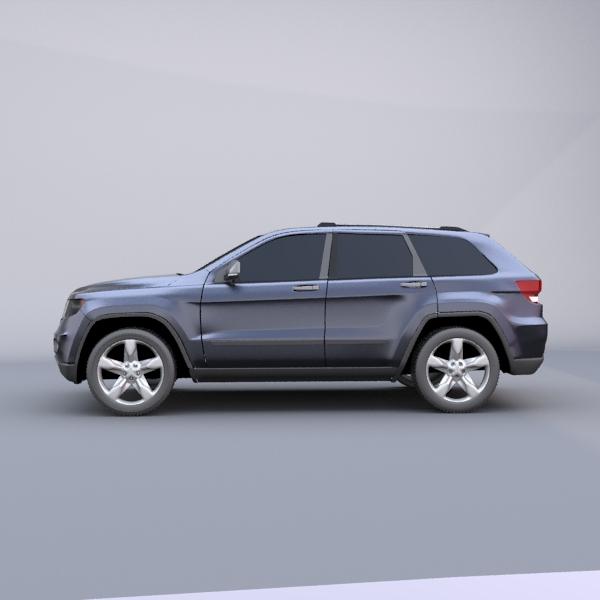 jeep grand cherokee 2011 3d model 3ds fbx blend lwo obj 119478