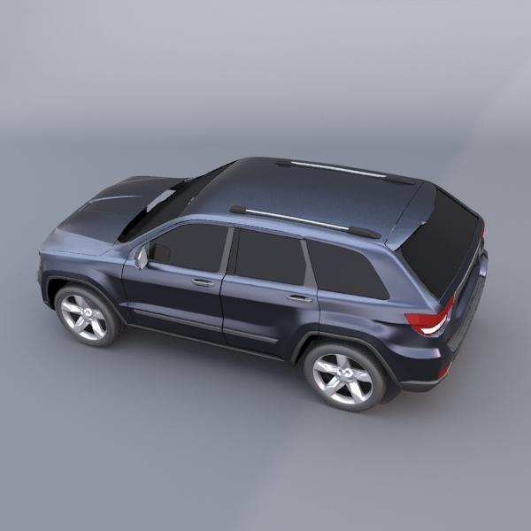jeep grand cherokee 2011 3d model 3ds fbx blend lwo obj 119479