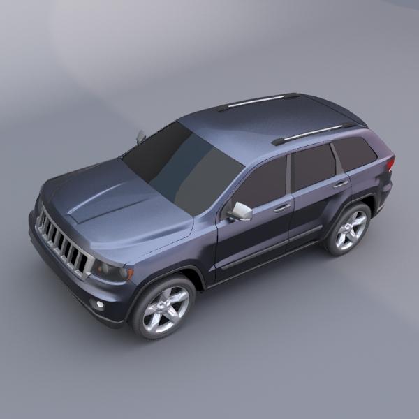 jeep grand cherokee 2011 3d model 3ds fbx blend lwo obj 119480
