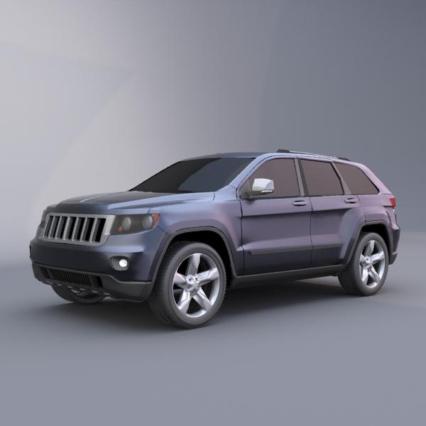 jeep grand cherokee 2011 3d model 3ds fbx blend lwo obj 119481