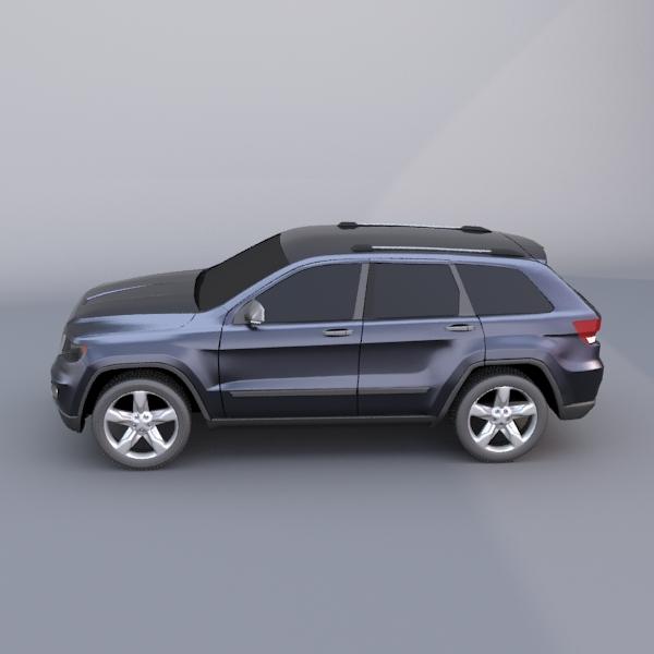 jeep grand cherokee 2011 3d model 3ds fbx blend lwo obj 119482