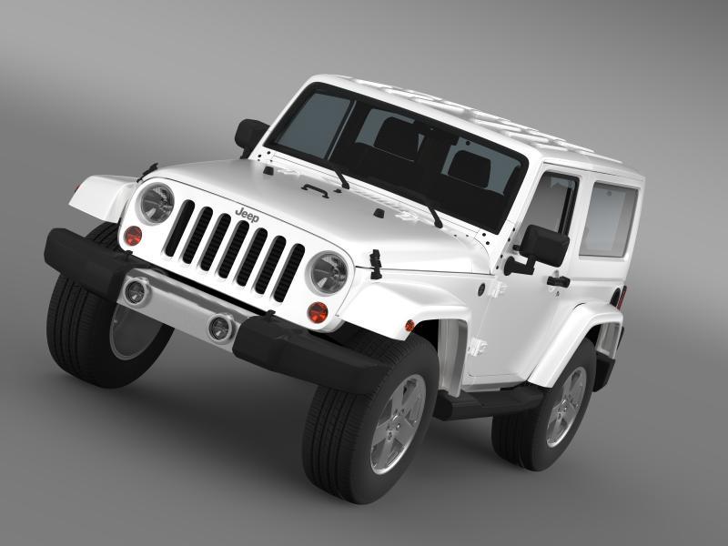 jeep wrangler 2011 3d model 3ds max fbx c4d lwo ma mb hrc xsi obj 160132