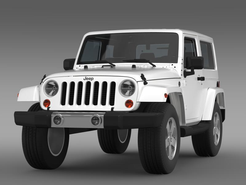 jeep wrangler 2011 3d model 3ds max fbx c4d lwo ma mb hrc xsi obj 160134