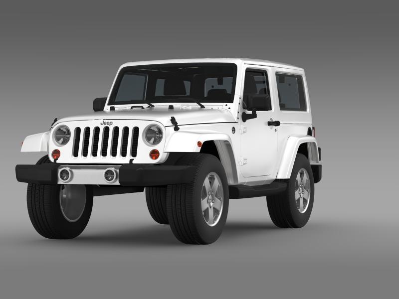 jeep wrangler 2011 3d model 3ds max fbx c4d lwo ma mb hrc xsi obj 160135