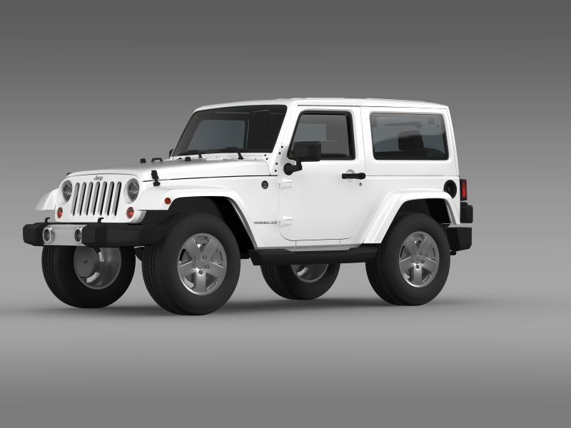 jeep wrangler 2011 3d model 3ds max fbx c4d lwo ma mb hrc xsi obj 160136