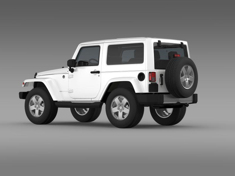 jeep wrangler 2011 3d model 3ds max fbx c4d lwo ma mb hrc xsi obj 160138