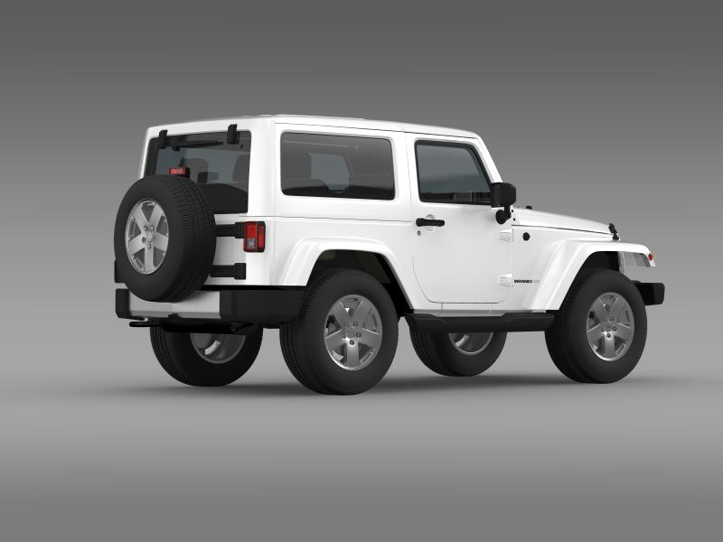 jeep wrangler 2011 3d model 3ds max fbx c4d lwo ma mb hrc xsi obj 160142