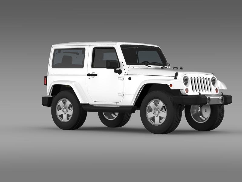jeep wrangler 2011 3d model 3ds max fbx c4d lwo ma mb hrc xsi obj 160144