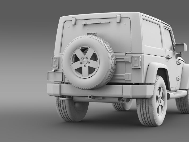 jeep wrangler 2011 3d model 3ds max fbx c4d lwo ma mb hrc xsi obj 160148