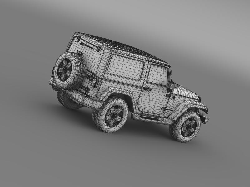 jeep wrangler 2011 3d model 3ds max fbx c4d lwo ma mb hrc xsi obj 160150