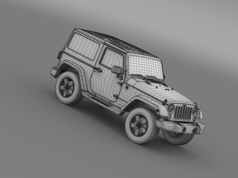 jeep wrangler 2011 3d model 3ds max fbx c4d lwo ma mb hrc xsi obj 160152
