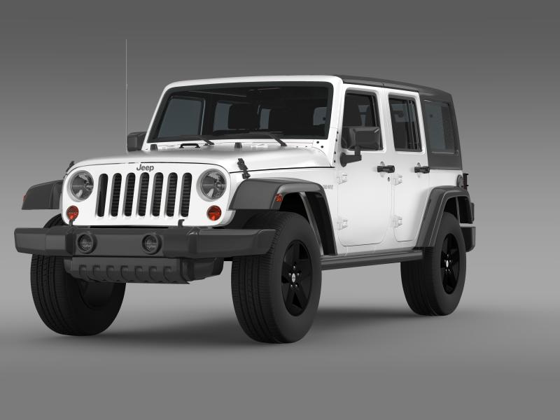 jeep wrangler call of duty black ops 3d model 3ds max fbx c4d lwo ma mb hrc xsi obj 160455
