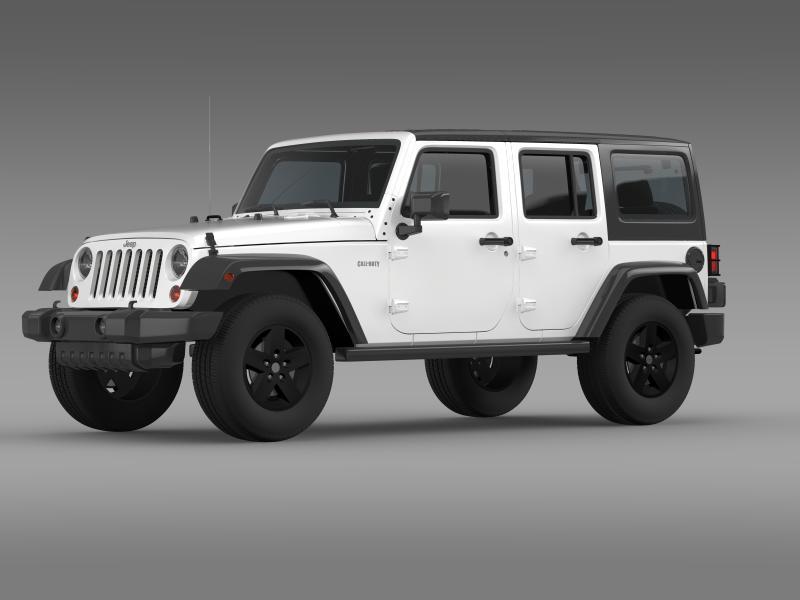 jeep wrangler call of duty black ops 3d model 3ds max fbx c4d lwo ma mb hrc xsi obj 160456