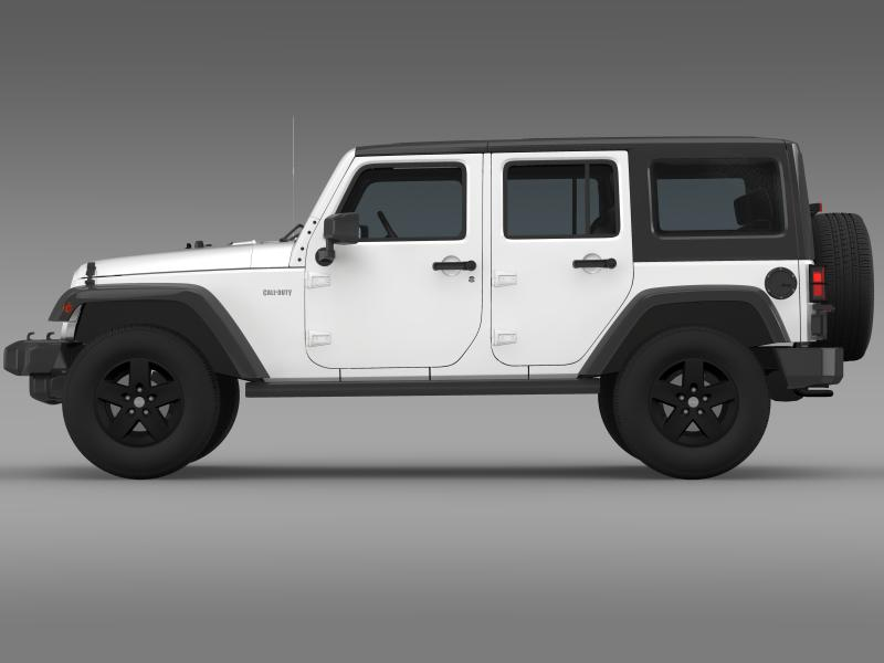 jeep wrangler call of duty black ops 3d model 3ds max fbx c4d lwo ma mb hrc xsi obj 160457