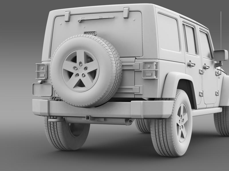 jeep wrangler call of duty black ops 3d model 3ds max fbx c4d lwo ma mb hrc xsi obj 160468