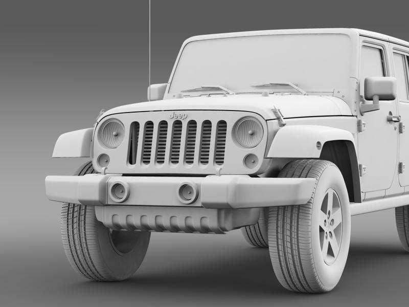 jeep wrangler call of duty black ops 3d model 3ds max fbx c4d lwo ma mb hrc xsi obj 160469