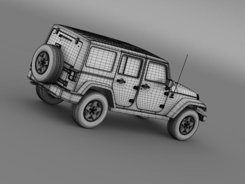 jeep wrangler call of duty black ops 3d model 3ds max fbx c4d lwo ma mb hrc xsi obj 160470