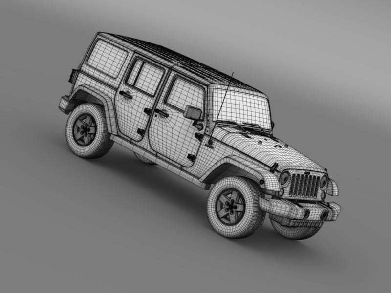 jeep wrangler call of duty black ops 3d model 3ds max fbx c4d lwo ma mb hrc xsi obj 160472