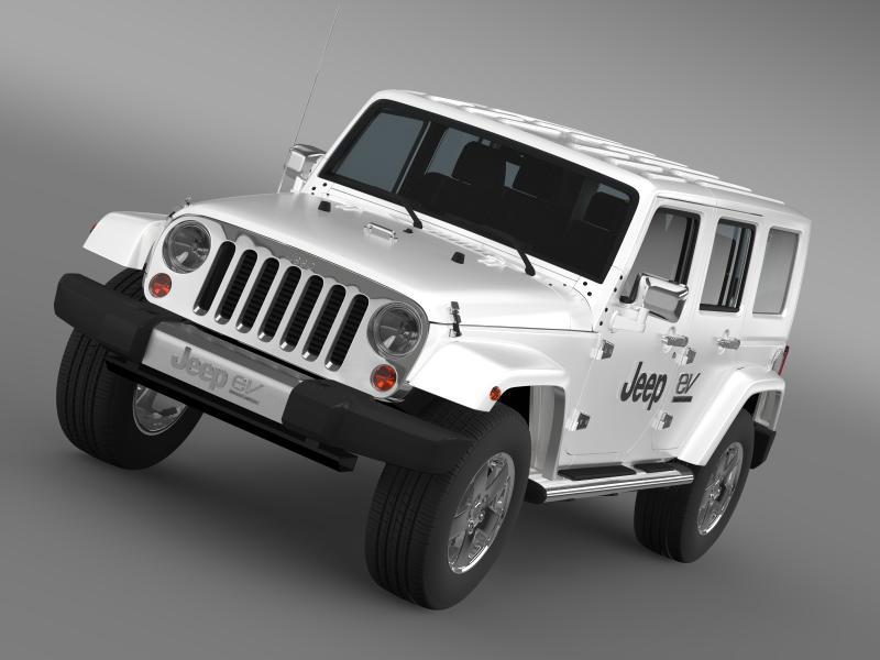 jeep wrangler electric vehicle concept 3d model 3ds max fbx c4d lwo ma mb hrc xsi obj 160153