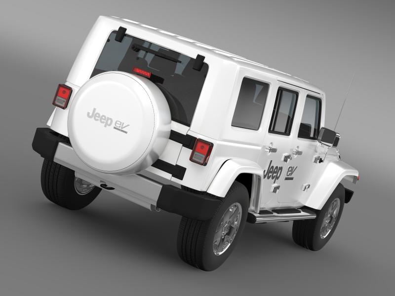 jeep wrangler electric vehicle concept 3d model 3ds max fbx c4d lwo ma mb hrc xsi obj 160154