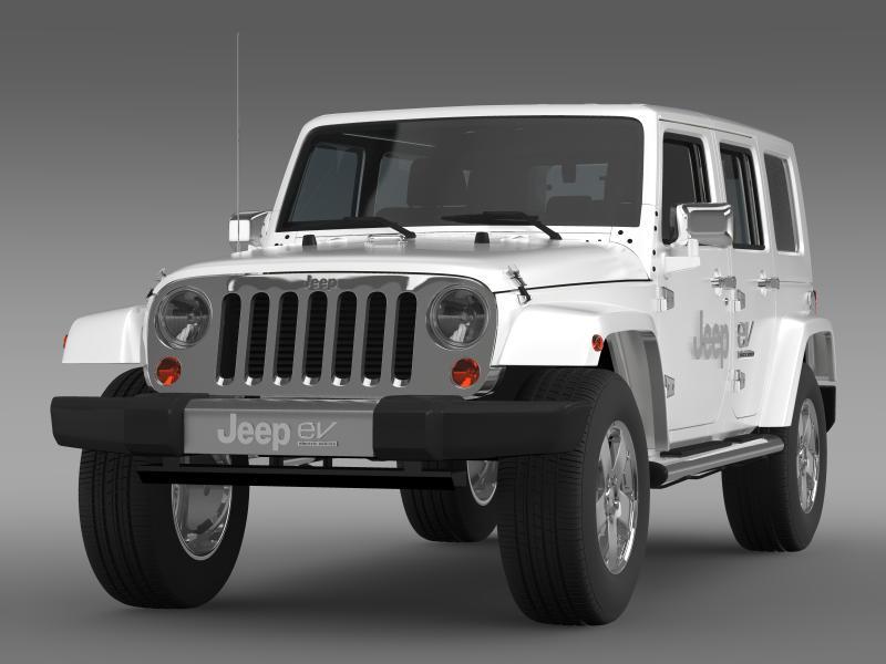 jeep wrangler electric vehicle concept 3d model 3ds max fbx c4d lwo ma mb hrc xsi obj 160155