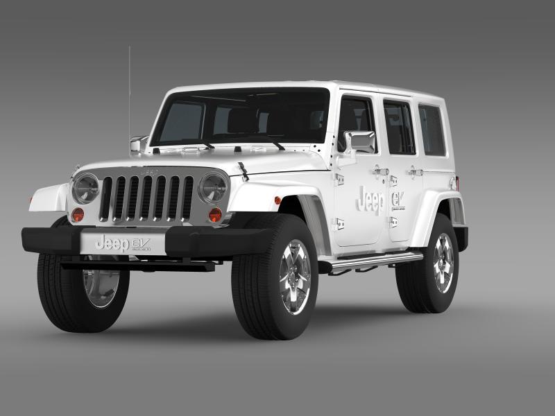 jeep wrangler electric vehicle concept 3d model 3ds max fbx c4d lwo ma mb hrc xsi obj 160156