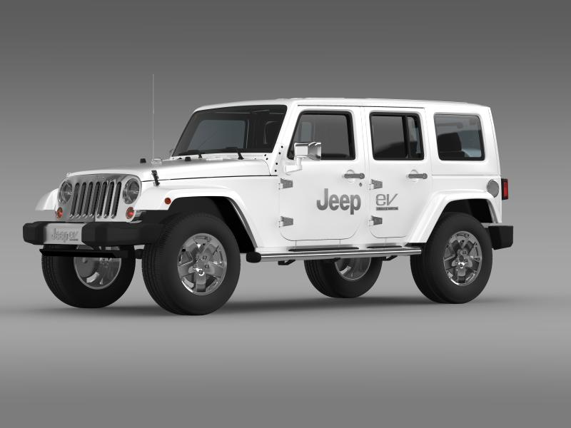 jeep wrangler electric vehicle concept 3d model 3ds max fbx c4d lwo ma mb hrc xsi obj 160157